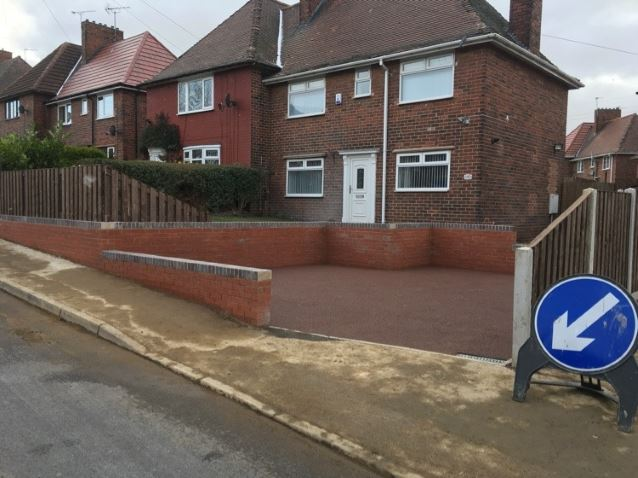 Driveway project front of house completed