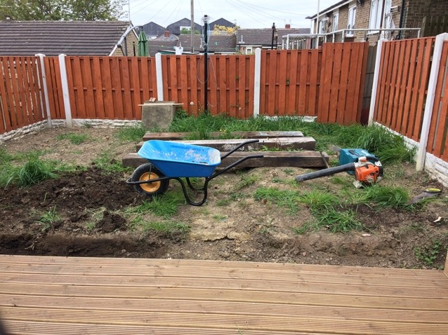 Before artificial grass has been put in place