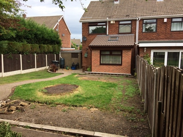 Turfing project before completion grass in bad condition