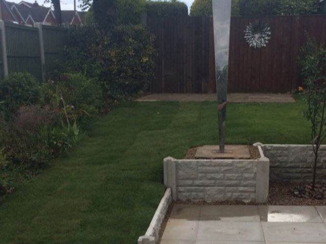Back garden landscaping project complete