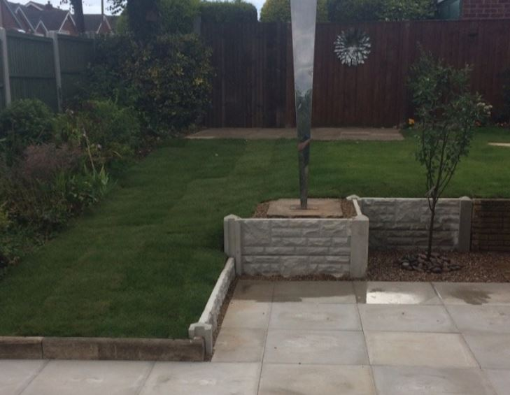 Landscaping project in back garden completed