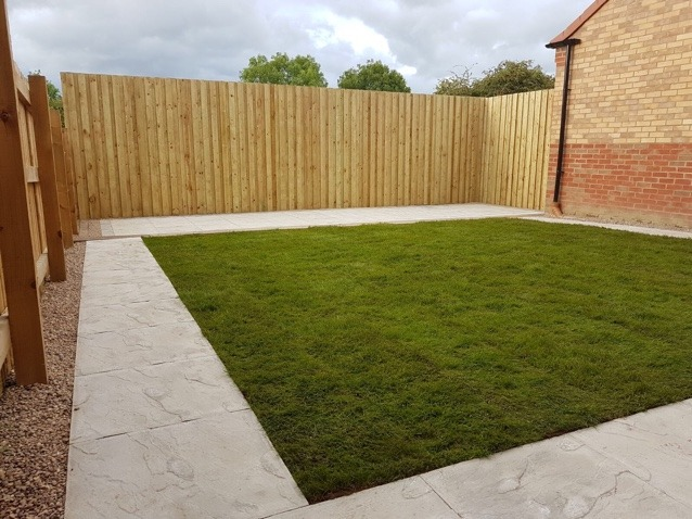 Fencing project completed garden with artificial grass
