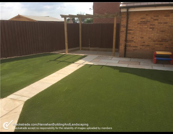 Artificial grass project completed