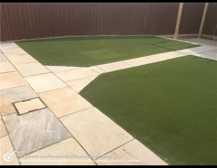 Artificial grass project in back garden completed