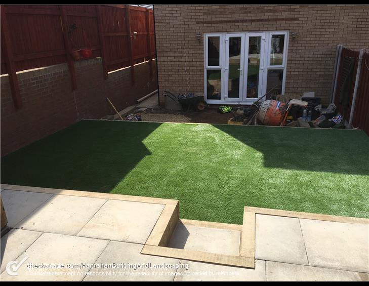 Levelled landscaping project completed