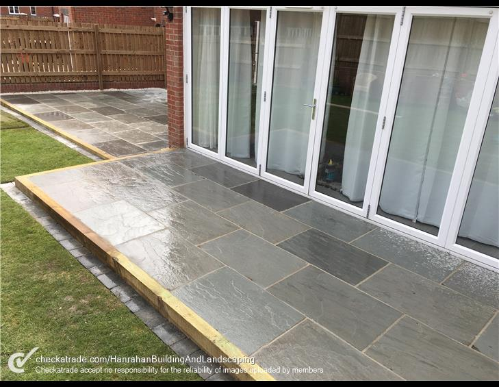 Patio slabs project completed