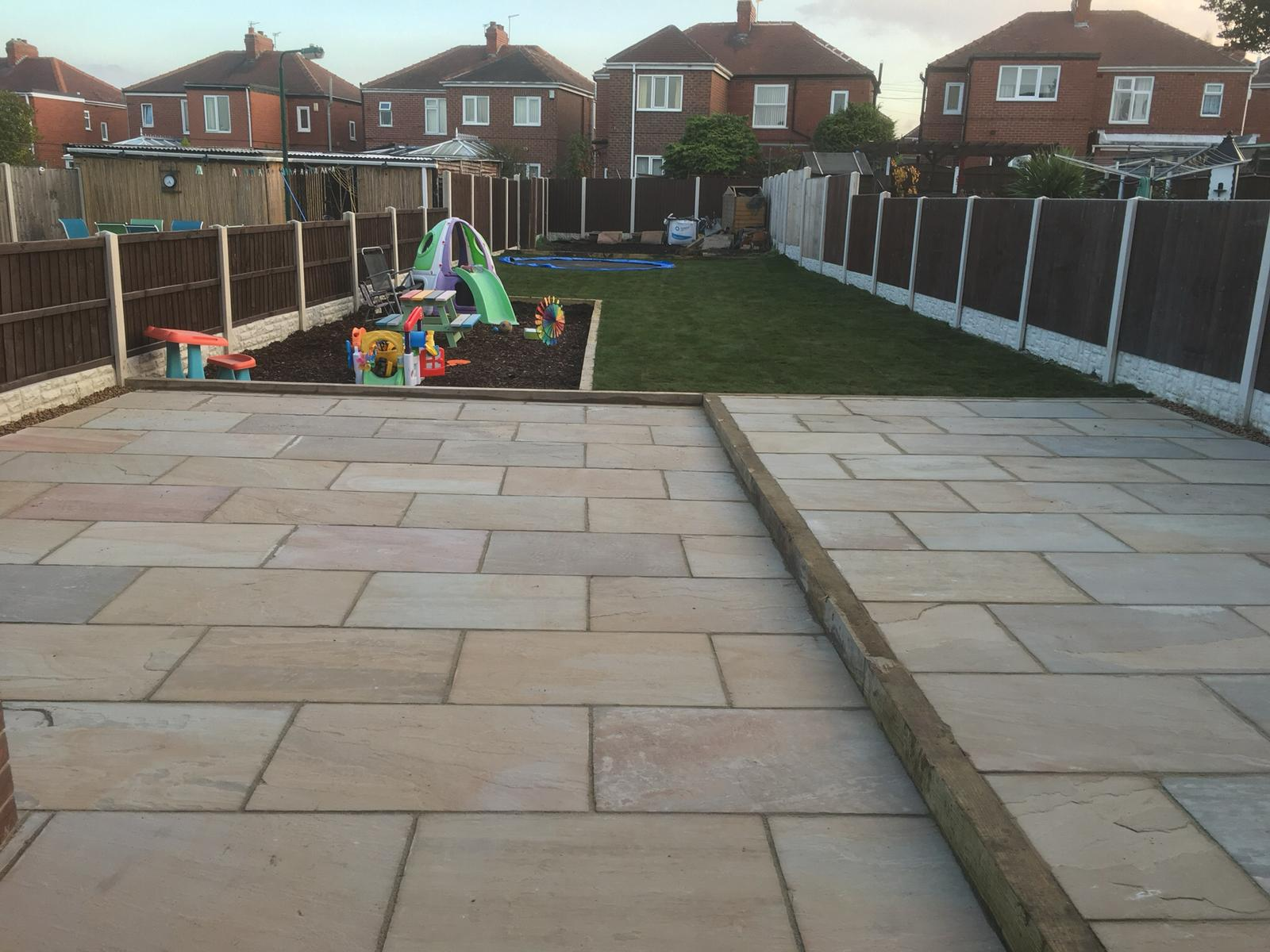 Patio and landscaping project completed