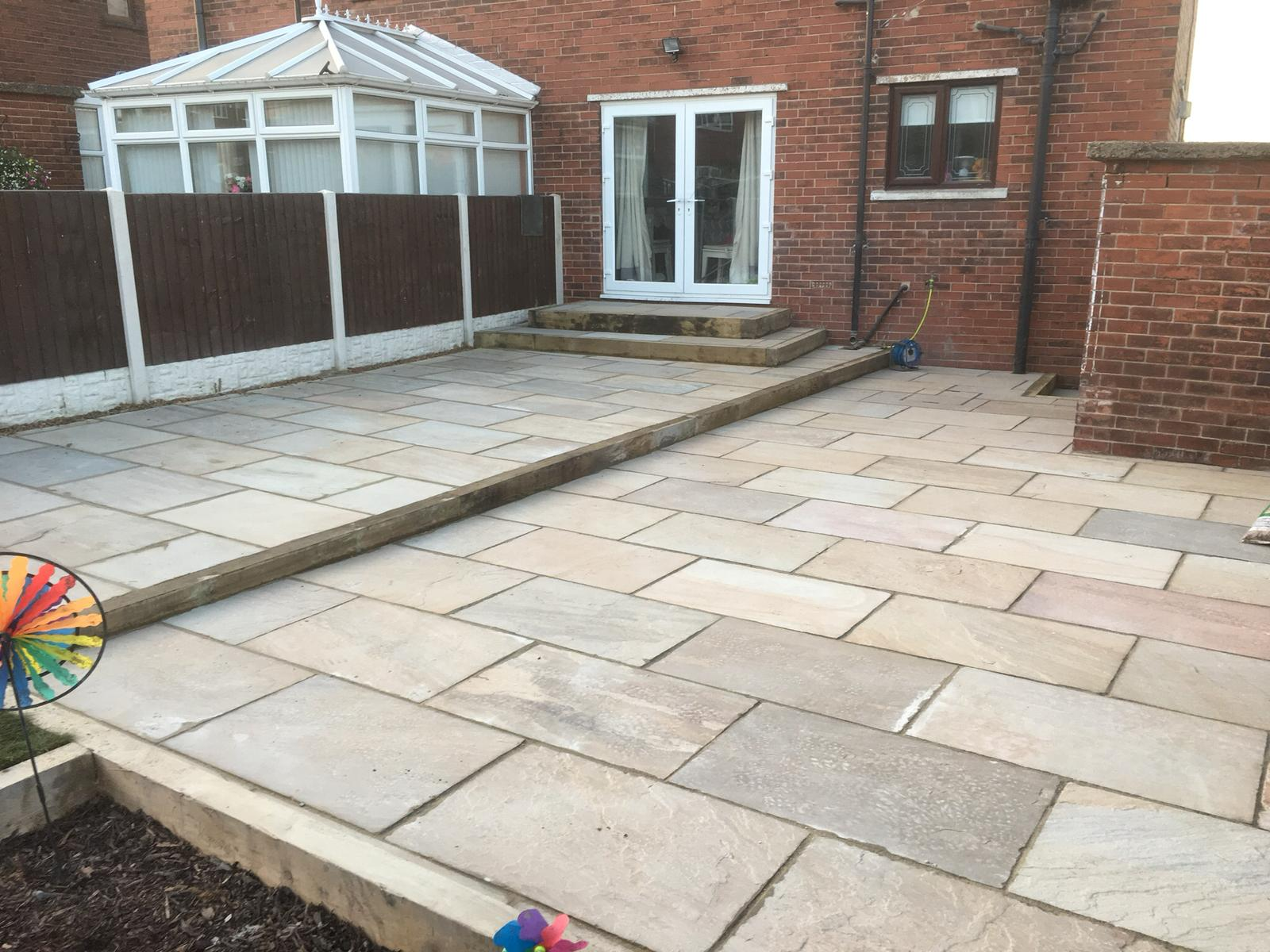 Patio levelled project completed