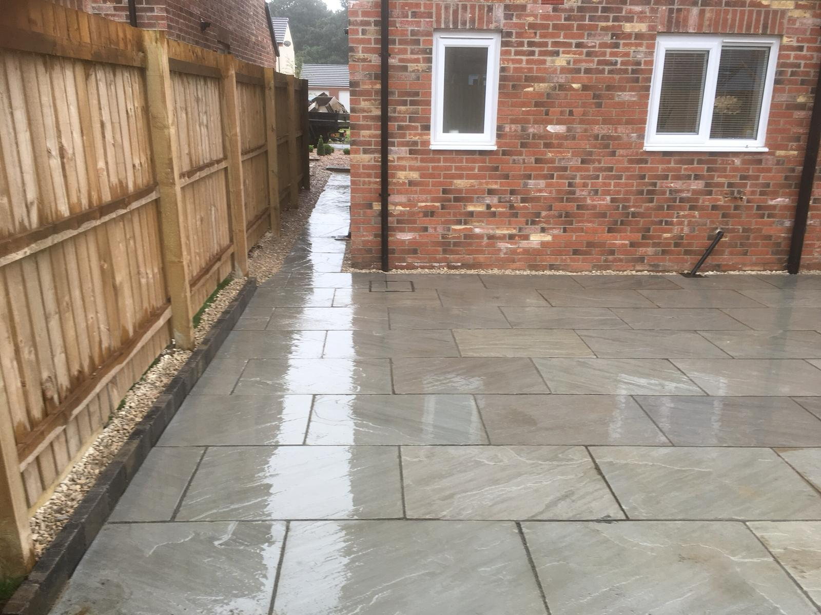 Patio project after completion