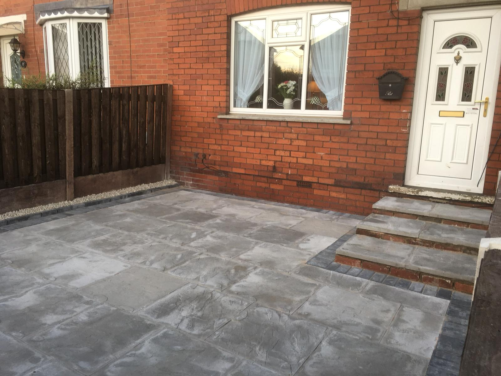 Completed patio project