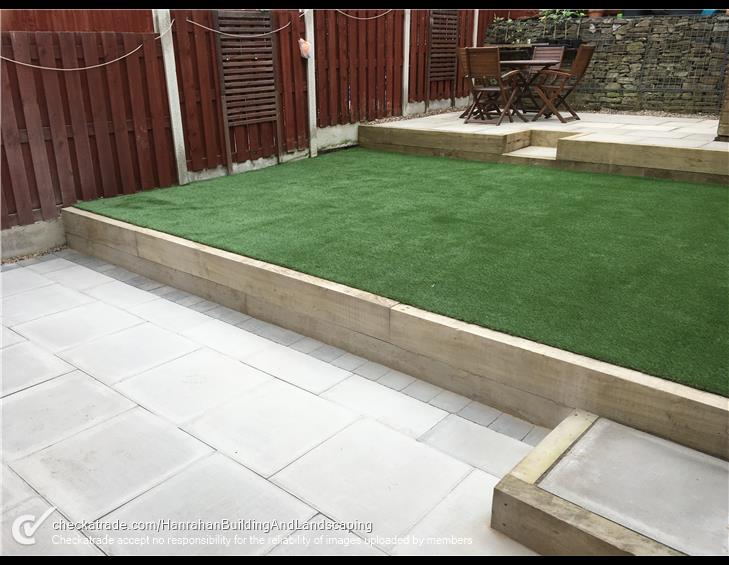 Levelled landscaping project complete
