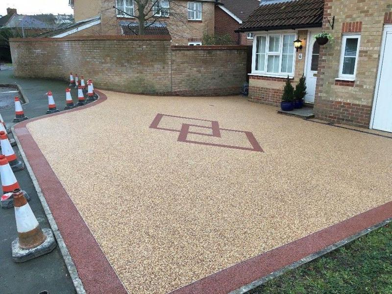 Resin bound driveway project completed