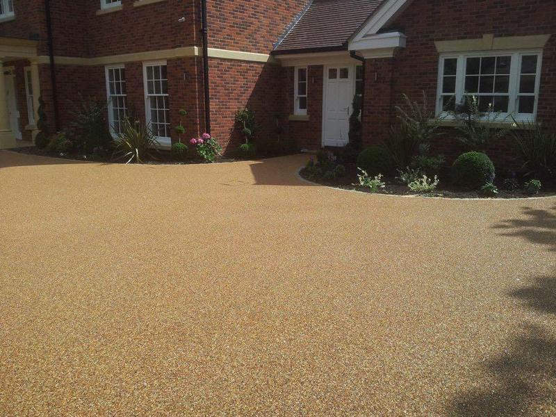 Resin driveway project completed