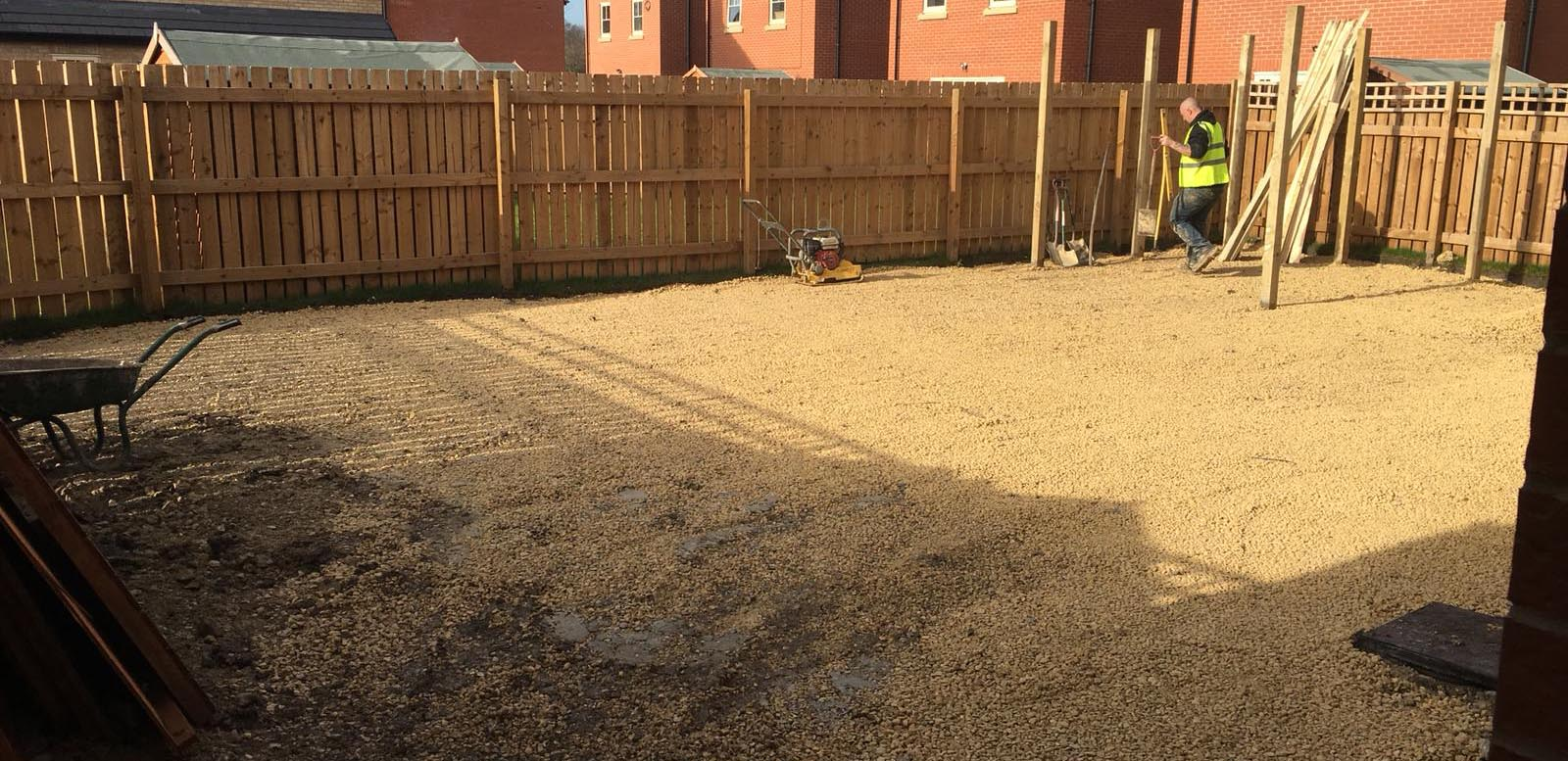 Landscaping before project took place