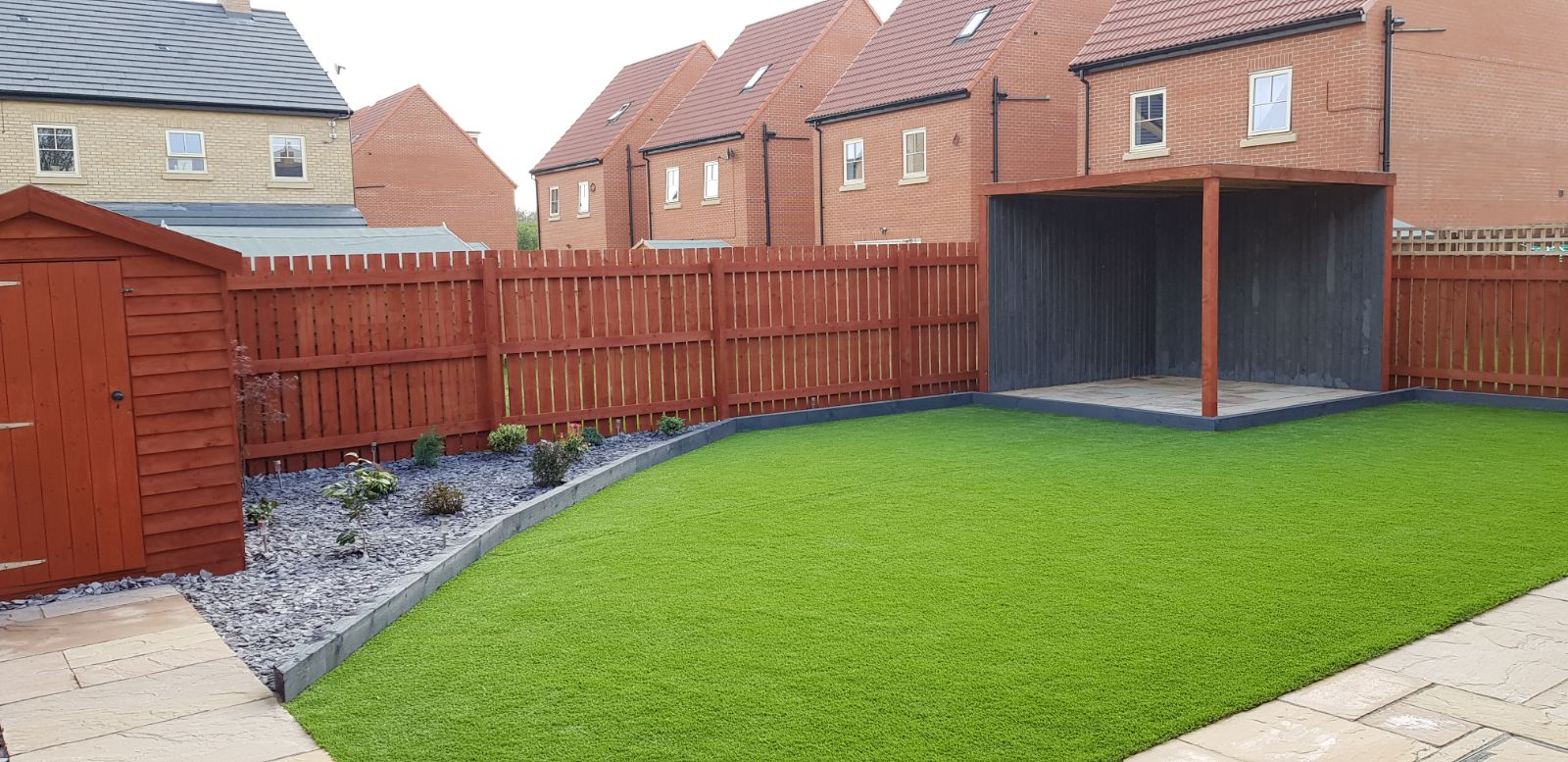 Artificial grass project complete
