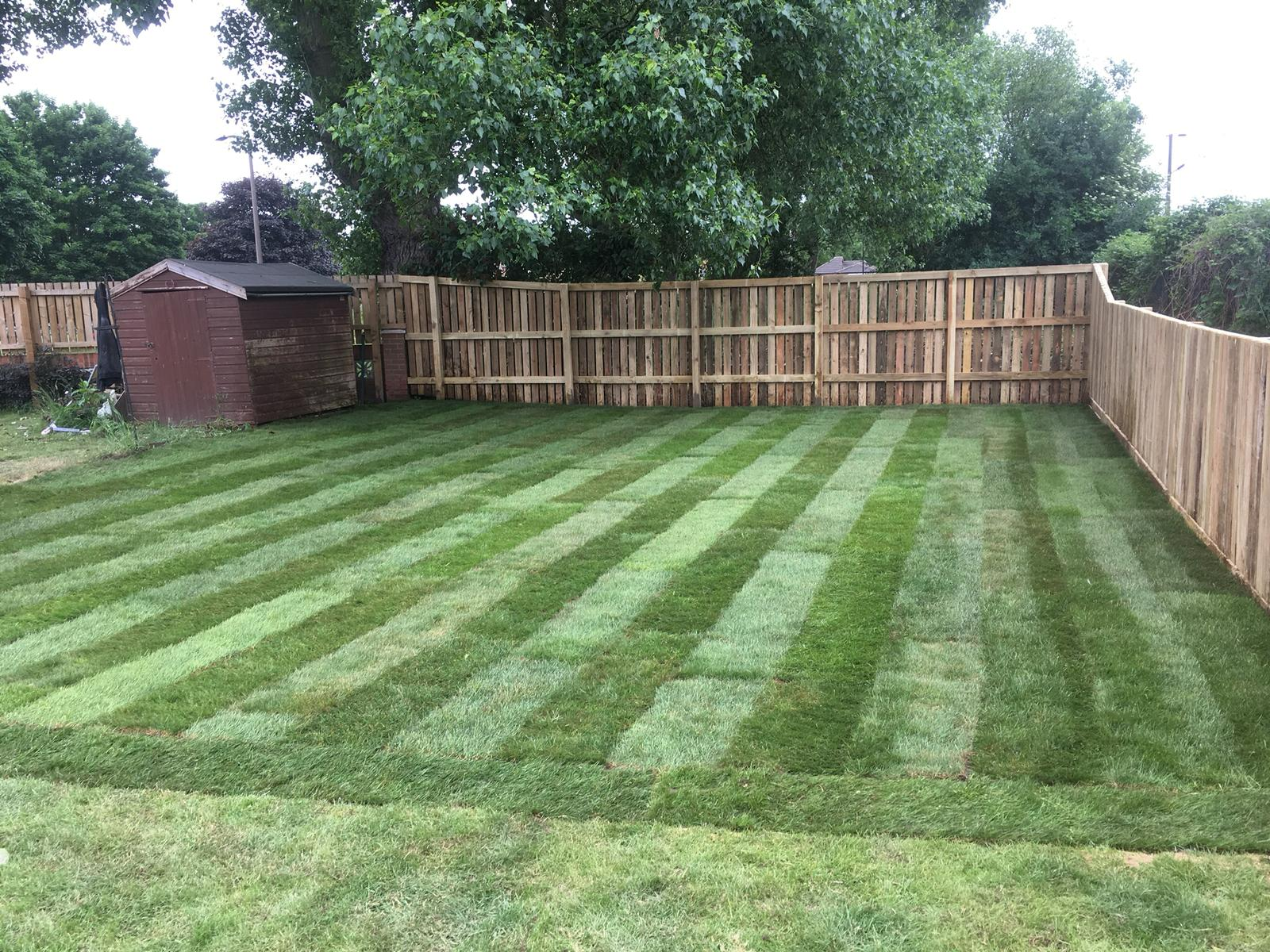 Completed turfing project