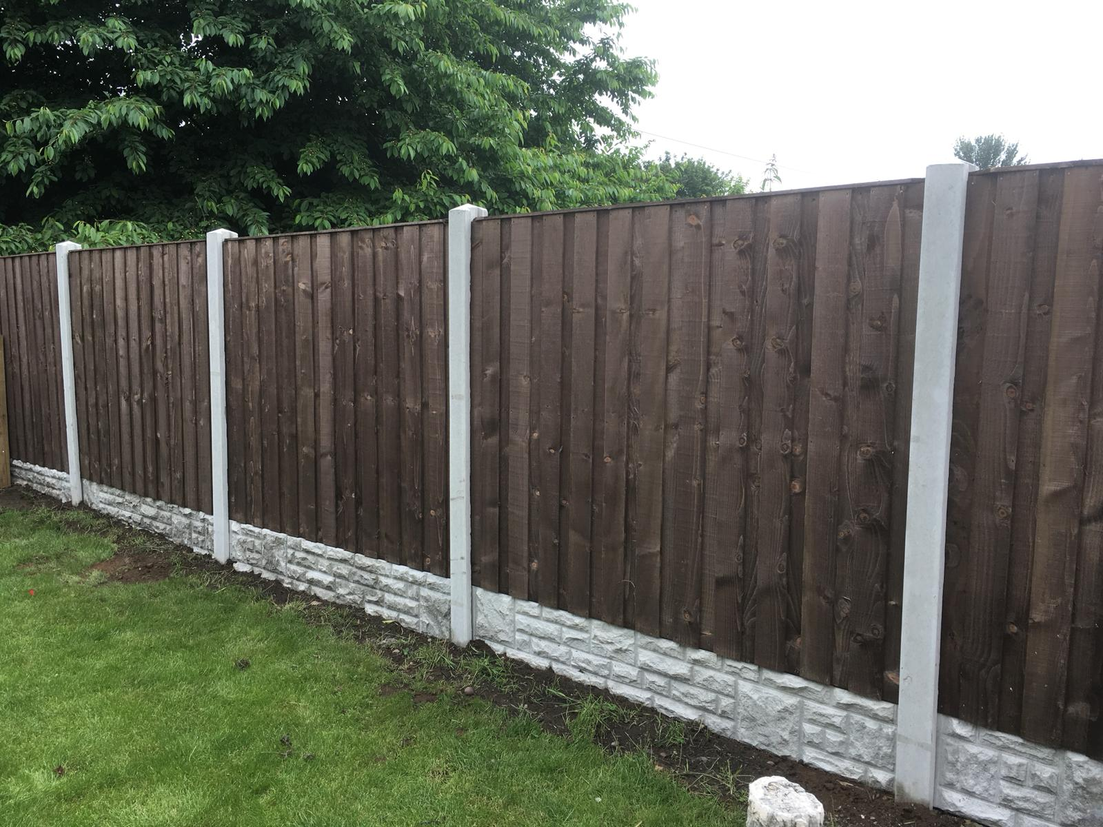 Fencing along a garden edge